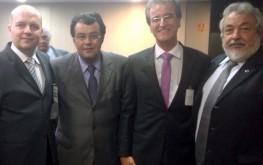 Luís Fernando Quilici, Eduardo Braga, Benjamin Ferreira Neto e Carlos Nogueira